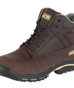 JCB WORKMAX+ Dark Brown Leather Boot with Steel Midsole