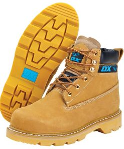 Ox Honey Nubuck Safety Boot - Size